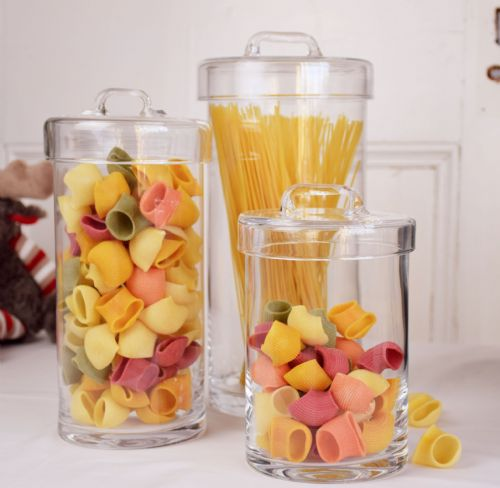 Cylinder Glass Jar Set